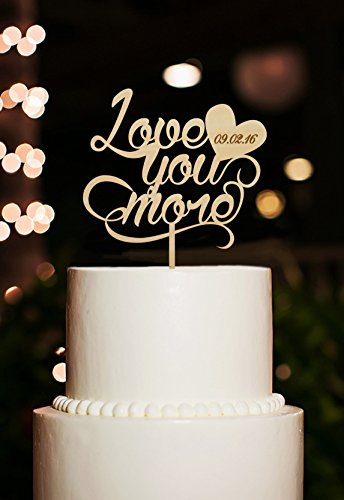CiCiDi Cake Toppers Love You More Quote Engagement Wedding Party Cake Decorating