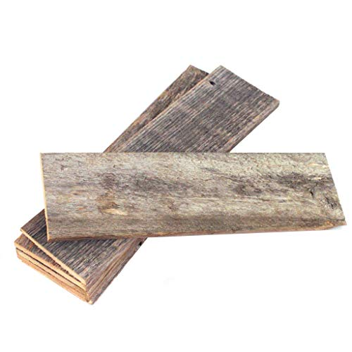 Rustic Farmhouse Reclaimed Barn Wood Bundle   Remodeling   Weathered   DIY   Repurposed   Decoration   Shiplap   Wall   Pack of 6 (60 in) Thin Planks