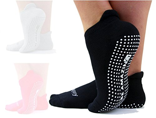 'Be Amazing', Barre, Pilates and Yoga Socks, High Quality, Non Slip, Grip Socks