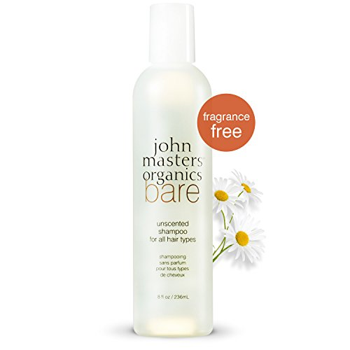 John Masters Organics - Bare - Unscented Shampoo for All Hair Types - Fragrance Free Natural Cleanser for Men & Women Sensitive to Fragrances - 8 (John Masters Organics Shampoo)