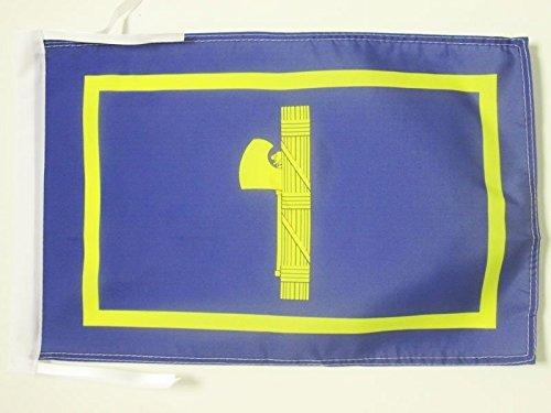 ITALY UNDER MUSSOLINI FLAG 18'' x 12'' cords - RSI FASCIST ITALIAN SMALL FLAGS 30 x 45cm - BANNER 18x12 in - AZ FLAG by AZ FLAG by AZ FLAG