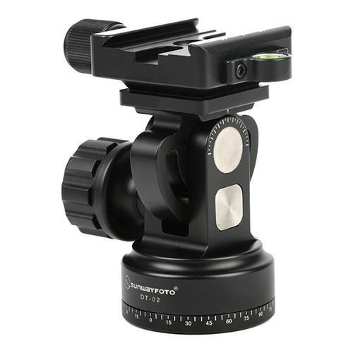 SunwayFoto DT-02D50 Monopod Tilt Head with Clamp, 26.45lbs Capacity