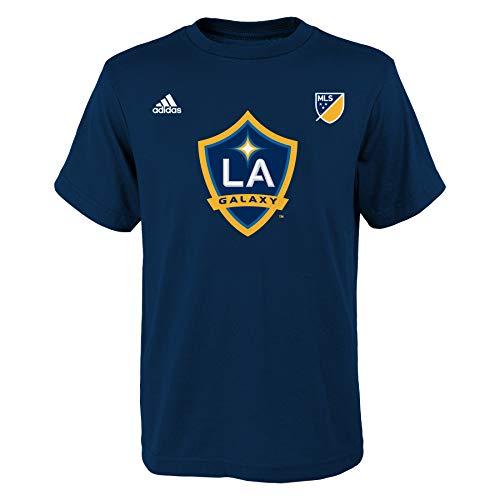 MLS Los Angeles Galaxy Keane # 7 Youth Boys Name and Number Tee, Medium, Navy - La Galaxy Soccer Mls