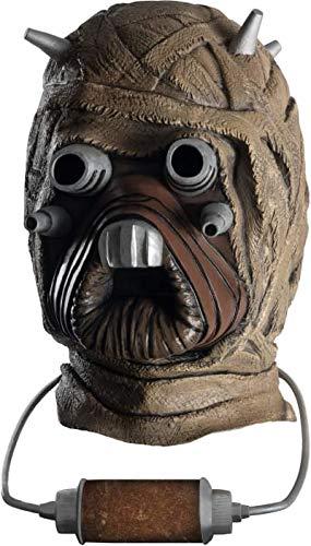 Star Wars Tusken Raider Deluxe Overhead Latex Mask, Brown, One Size