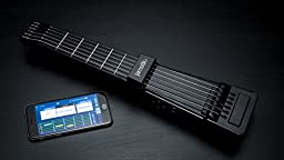 Jamstik+ Black Portable App Enabled MIDI Electric Guitar, for Beginners and Music Creators, iOS, Android & Mac Compatible, with Bluetooth Connectivity, Powered by Zivix