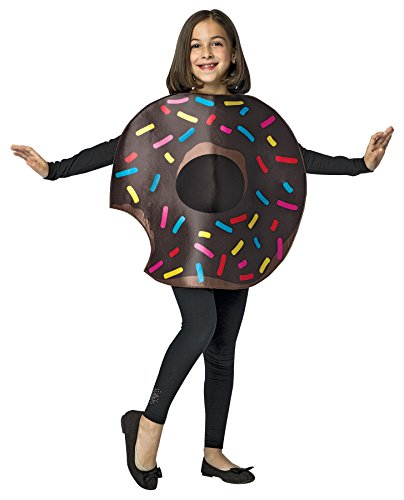 UHC Girl's Chocolate Donut Bite Outfit Funny Theme Child Halloween Costume, Child M (7-10) -