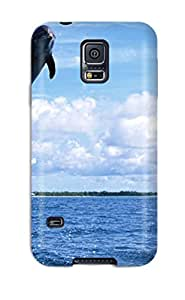 Ralston moore Kocher's Shop 3177583K97322291 Hot Fashion Design Case Cover For Galaxy S5 Protective Case (dolphins)