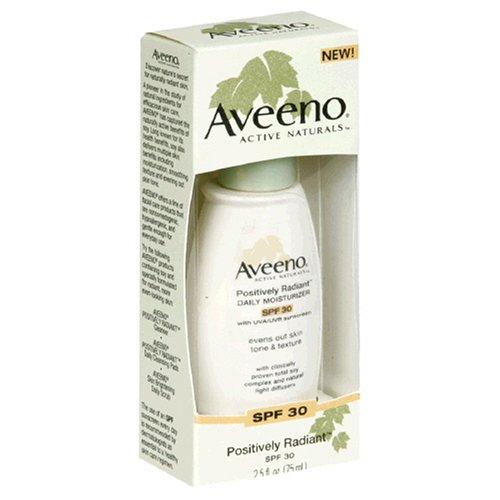 Aveeno Active Naturals Positively Radiant Daily Moisturizer SPF-30, UVA/UVB Sunscreen, 2.5-Ounce Bottles (Pack of 2) (Positively Radiant Moisturizer compare prices)