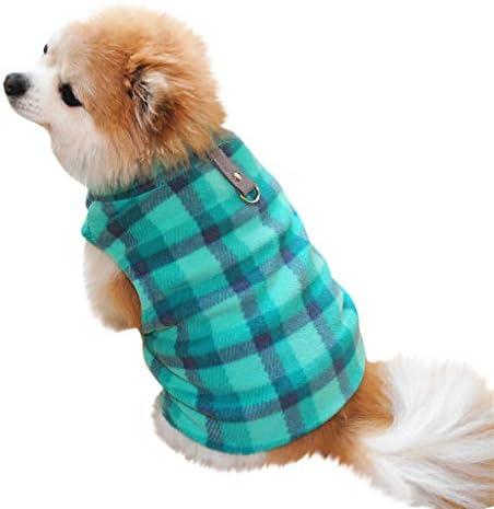 Amphia - Fleece-Reversweste - Haustier-Hundekatze Villus warme Weste-Welpen-Hündchen-Kleidungs-Kleidung(Blau,S)