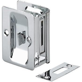 richelieu 1700nbpsbc rectangular pocket door pull with passage lock brushed nickel on sale