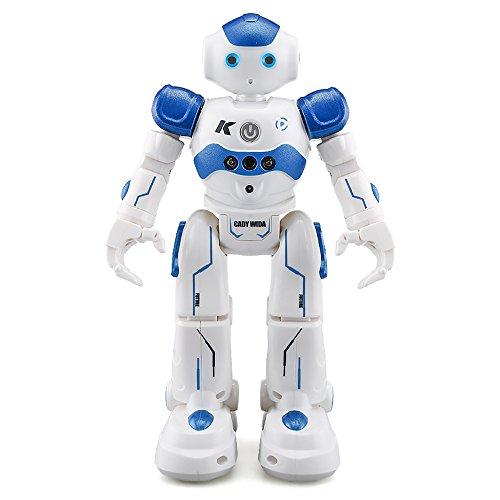 ECLEAR Remote Control RC Robot, JJRC CADY Smart Programming Gesture Sensing Robotics Humanoid Robots Kit Toys Present For Kids Preschooler Entertainment,by Blue
