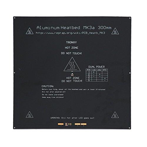 nouler juler Cama de calefacción 3 Mm Aluminio PCB Cama Caliente 12V24V Cama Caliente Mk3 Mk2A Impresora 3D