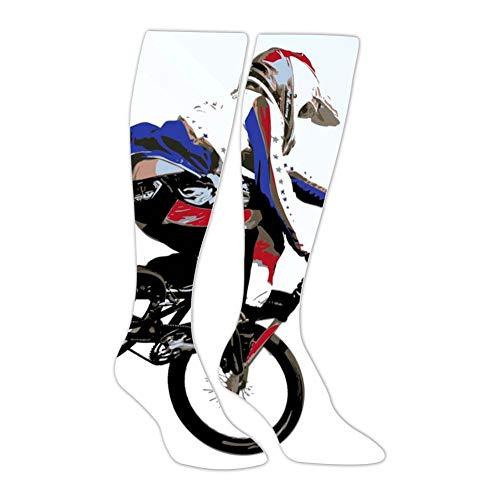 - Knee High Stockings Bike Stunt Long Socks Sports Athletic for Man and Women