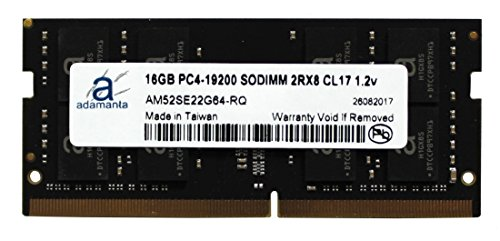 Adamanta 16GB (1x16GB) Laptop Memory Upgrade DDR4 2400Mhz PC4-19200 SODIMM 2Rx8 CL17 1.2v Notebook RAM DRAM (Upgrades Laptop Memory Computer)