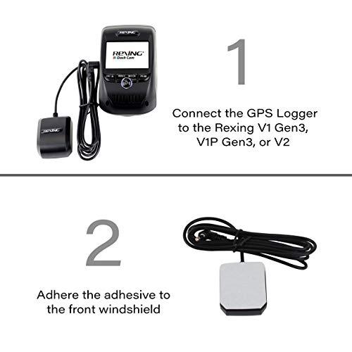Rexing GPS Logger for Rexing V1 3rd Gen, V1P 3rd Gen, V2, V2 Pro, V3 Basic
