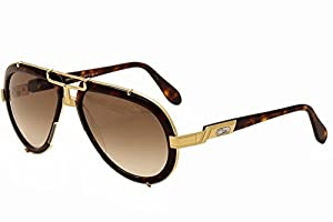 Cazal 642-3-624 Tortoise Shell and Gold Sunglasses