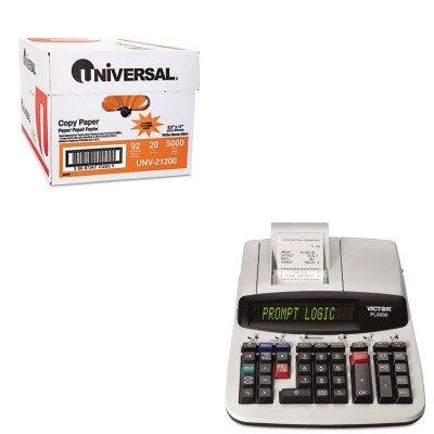 KITUNV21200VCTPL8000 - Value Kit - Victor PL8000 1-Color Prompt Logic Printing Calculator (VCTPL8000) and Universal Copy Paper (UNV21200)