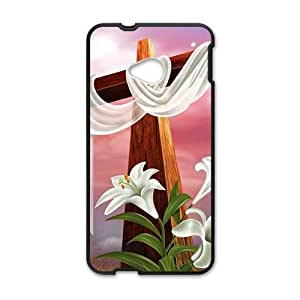 Pure red cloth big cross Cell Phone Case for HTC One M7