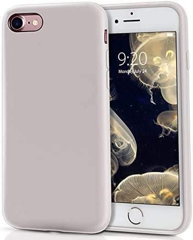 Coque iPhone Se, MILPROX Coque iPhone 8 Boîtier de iPhone 7 Silicone Liquide Anti-Rayure Anti-Choc Gel Housses de Protection renforcée Compatible avec ...