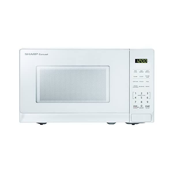 Sharp Microwaves ZSMC0710BW Sharp 700W Countertop Microwave Oven, 0.7 Cubic Foot, White 1