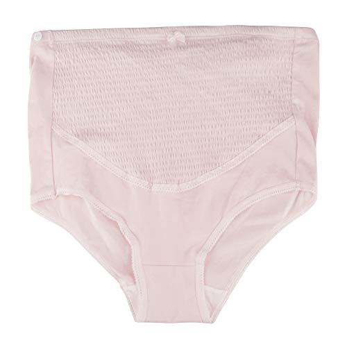 マタニティショーツ マタニティ下着 調整可能 産前産後兼用  産褥ショーツ 綿 通気性、弾力性に優れる(XL-ピンク)