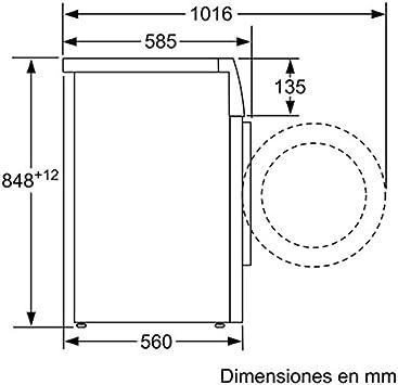 Balay 3TS883A - Lavadora (Independiente, Color blanco, Frente, 8 ...