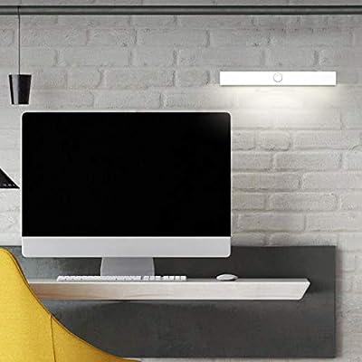 Wan&ya LED De Carga LED Sensor De Movimiento Luz del Armario con 3M Adhesivo Sensor Táctil Magnético Lámpara De Armario para Armario Cocina Escalera Dormitorio: Amazon.es: Hogar