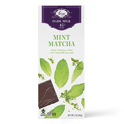 Vosges Haut-Chocolat Matcha Mint Chocolate Bar, 3 oz (Grass Pinnacle Green)