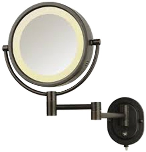 See All HLBZSA895 Halo Lighted 8-Inch Diameter Wall Mounted Make Up Mirror 5X, Bronze