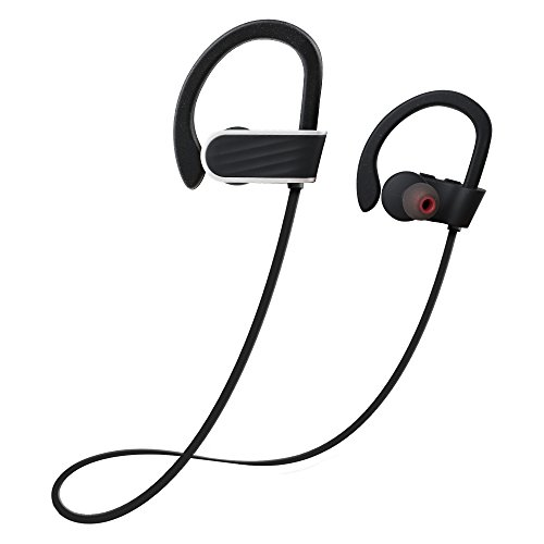 Bluetooth Headphones Wireless Earbuds 2018 New In-Ear Bluetooth Earphones w/Mic for Sports (Sweatproof IPX7 Waterproof, CVC 6.0 Noise Cancelling, 8 Hours Play-time, HD Stereo Secure-Fit Headset) by PYQ