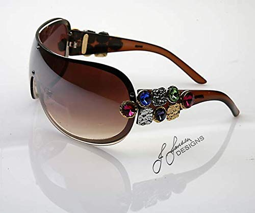 Designer Sunglasses with Crystals