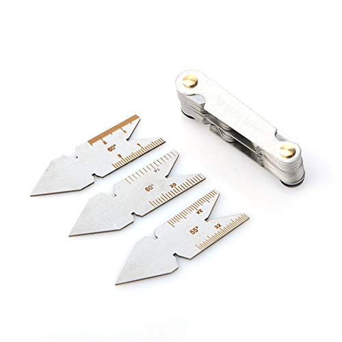 JIALIUJ Screw Thread Pitch Cutting Gauge Tool Set 4pcs Centre Gage 55/&60 Degree Inch /& Metric Measuring Gauging Lathe Tools New