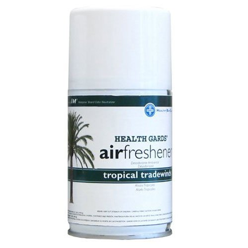 AirWorks 07908 Metered Aerosol Air Fresheners, Tropical T...
