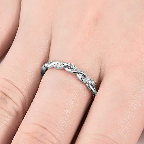 - Endicot Fashion Women 18k Ring Rose Gold Fil Amethyst Emerald Cut White Sapphire Ring | Model RNG - 18974 | 10