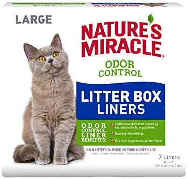 Nature's Miracle Odor Control Litter Box Liners, 7 Count by Nature's Miracle