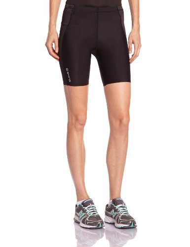SKINS Women's A400 Shorts , Black/Silver, LH