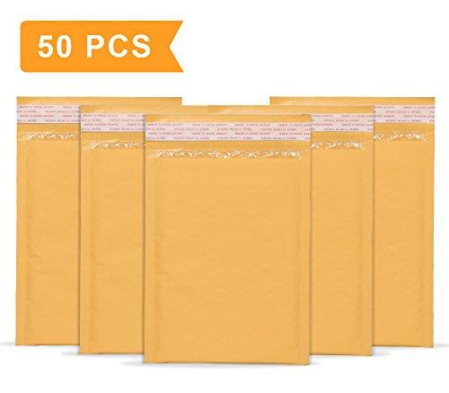 Mailer Plus #0 6x10 Padded Envelopes Kraft Bubble Mailers Gold Bubble Envelopes Pack of 50