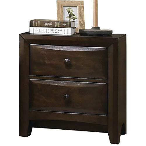 Furniture Nightstand Acme Set - ACME Furniture 26643 Brenta Nightstand Walnut