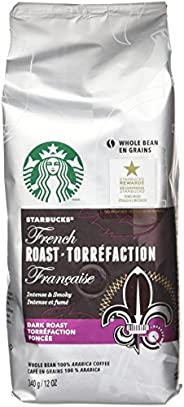 Starbucks French Dark Roast Whole Bean Coffee, 340g Bag (Pack of 6)