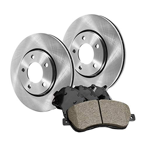 (AutoDN Rear Brake Rotor and Posi-Quiet Ceramic Pad 3PCS For 1992 Eagle 2000 GTX)