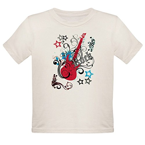 (Royal Lion Organic Toddler T-Shirt Rock Guitar Music Notes Treble Clef - 6T)