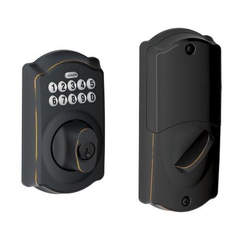 Schlage BE369NX Camelot 716 Home Keypad Deadbolt with Z-Wave Technology, Aged Bronze Schlage Lock Company