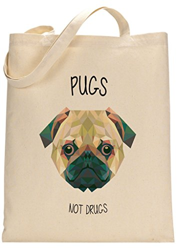 Pugs Not Drugs Funny Custom Made Tote Bag