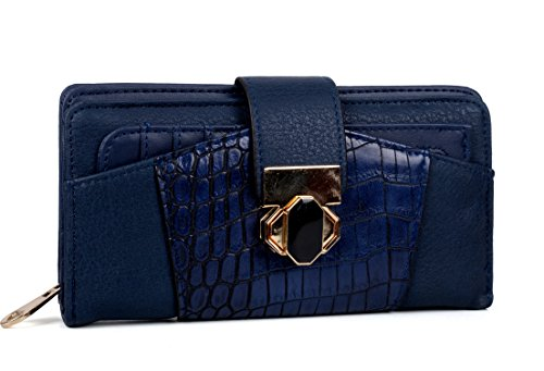 Luxury Pocket (ANNA JONES Luxury Wallet Card Holder Ladies Purse Women Short Wallets Button Pocket)