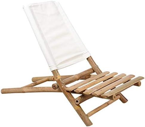 AubryGaspard Silla de Playa Plegable de bambú: Amazon.es: Jardín