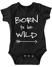 Born To Be Wild Cute Baby Clothes | Newborn Gift Steppenwolf Romper Bodysuit