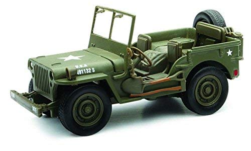 (New Ray Jeep Willys US ARMY, Military Green 54133 - 1/32 Scale Diecast Model Toy Car)