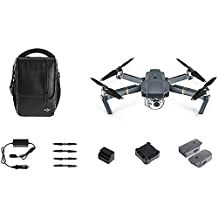 DJI CP.PT.000642 Mavic Pro Fly More Bundle, Mini Portable Drones, Gray