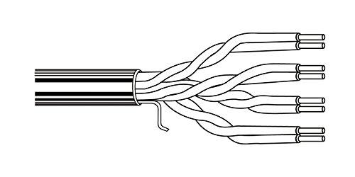 1000 ' Belden 1700 A 24 AWG 4ペアEnhanced bonded-pair U/UTP CMRカテゴリ5eケーブルボックスブラック   B0781QGMG5