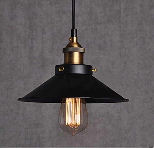 E26 E27 Base Industrial Vintage Retro Edison Loft Pendant Light Ceiling Lamp Painted Iron Umbrella Shade Country Style Lamp Matte Pendant - Style Shades